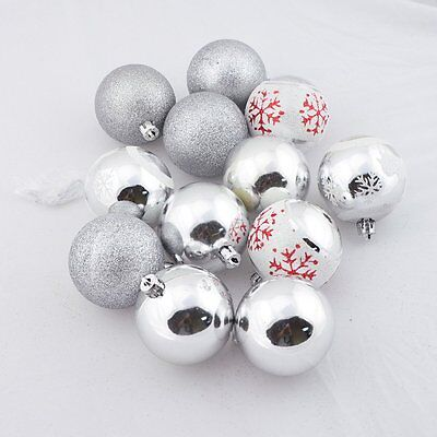 12PCS Christmas Balls Party Ornaments Xmas Tree Hanging Decoration Decor Home