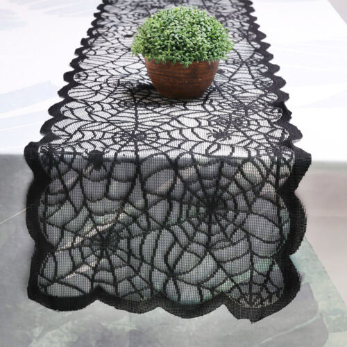 13×72 Inch Halloween Spider Web Table Runner Flag Home Part
