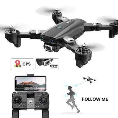 GPS drone S167 1080P HD wifi camera quadcopter foldable 2 batteries FPV selfie