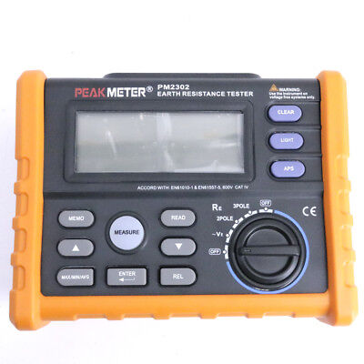 Pm2302 Digital Earth Ground Resistance Tester Meter
