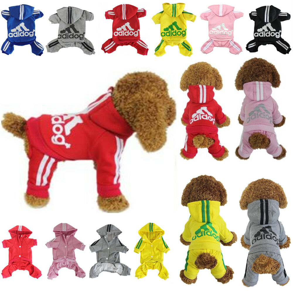 Купить Unbranded - Dog Hoodies Sweatshirt Jumpsuit Casual Pet 4-Leg Small Adidog Clothes Warm