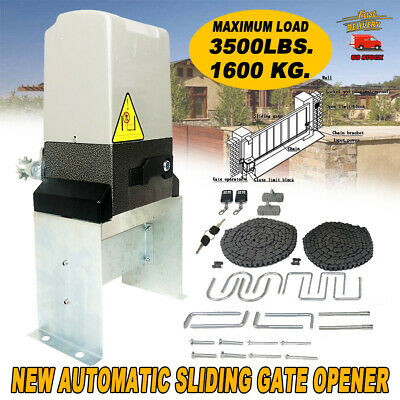 Automatic Driveway Gate Openers - 3500 lbs Electric Sliding Gate Opener Automatic Driveway Operator Remote 110V