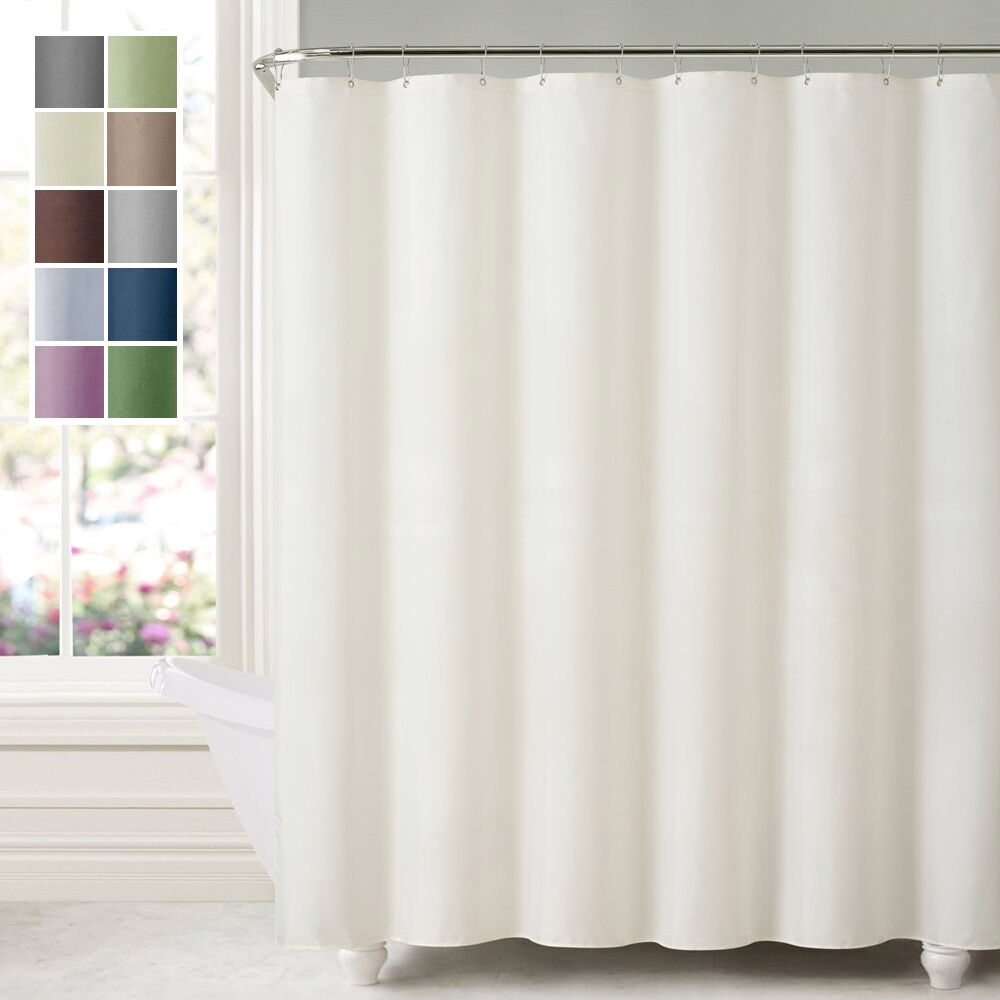 Water Repellent Shower Curtain Liner Mildew Resistant