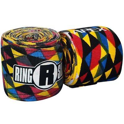 New Ringside Apex Kick Boxing MMA Handwraps Hand Wrap Wraps 180 - Multi Color