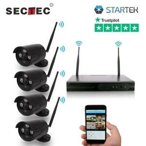 WAW ! Kit of 4 Wireless Security Cameras FULL HD perfect for you ( latest version 2019 ) Best Surveillance