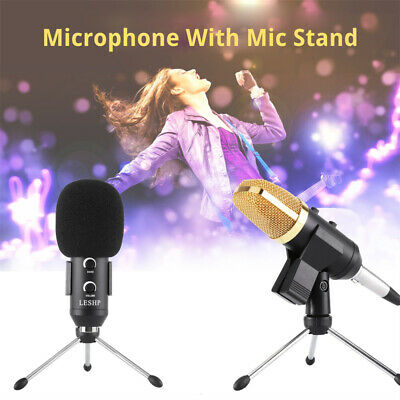 Professional USB Condenser Microphone Studio Sound Recording Mic Stand Tripod BP