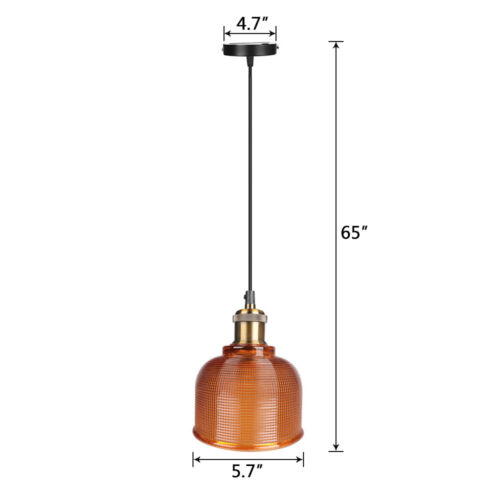 Industrial Glass Pendant Light Color Plating Ceiling Lamp Shade Hanging Fixtures 8