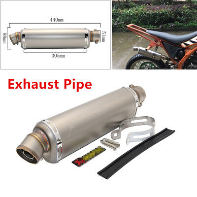 Durable Motorcycle Dirt Bike ATV Part Exhaust Muffler Pipe for Right Side 440mm