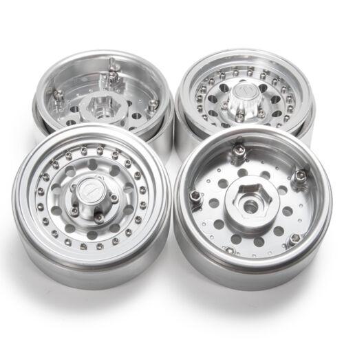 "4 x CNC Beadlock 1.9/"" Alufelge Räder Rims für 1:10 RC Axial SCX10 D90 TRX4 90046"