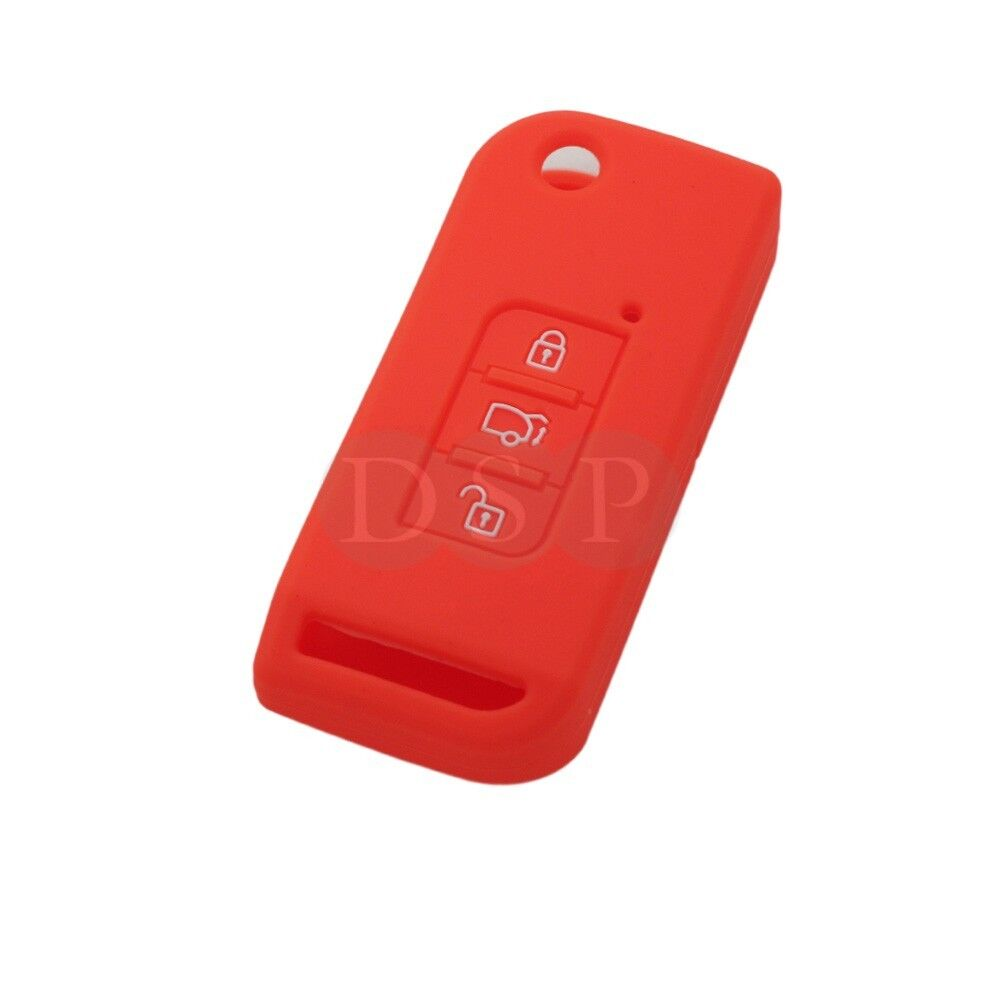Silicone Cover Skin Jacket fit for MAHINDRA Flip Remote Key 3 Button CV4482OR
