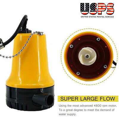 - New 12V Submersible Water Pump 1620GPH 6000L/H Clean Clear Dirty Pool Pond Flood