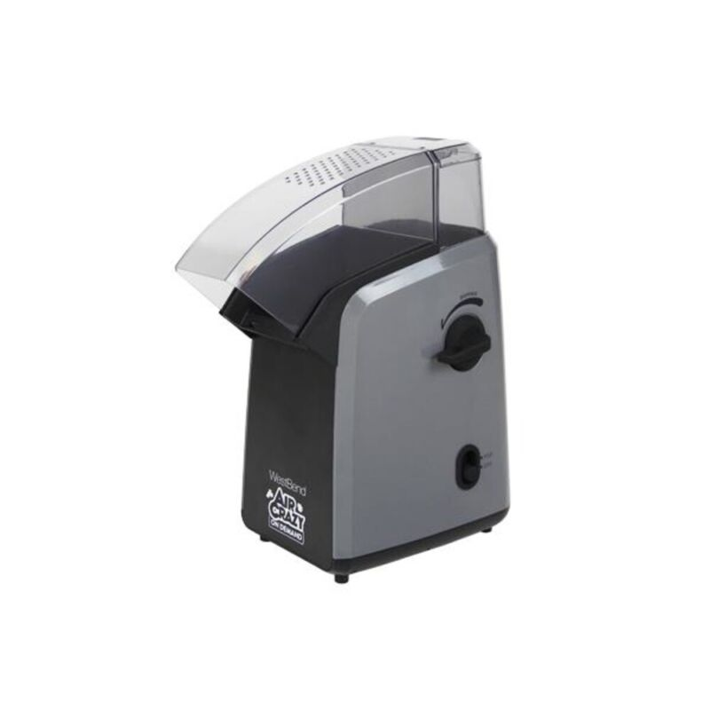 West Bend 82702Gb 4 Quart Air Crazy On Demand Hot Popcorn Popper Black