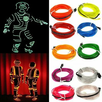 Neon LED Glow Wire Dance Party DIY Costumes Clothing Luminous Car Light Decors  - Neon Dance Decorations
