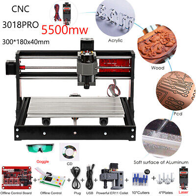 Cnc 3018 Pro Grbl Diy Wood Router Engraving 3 Axis Pcb Milling Machine 5500mw