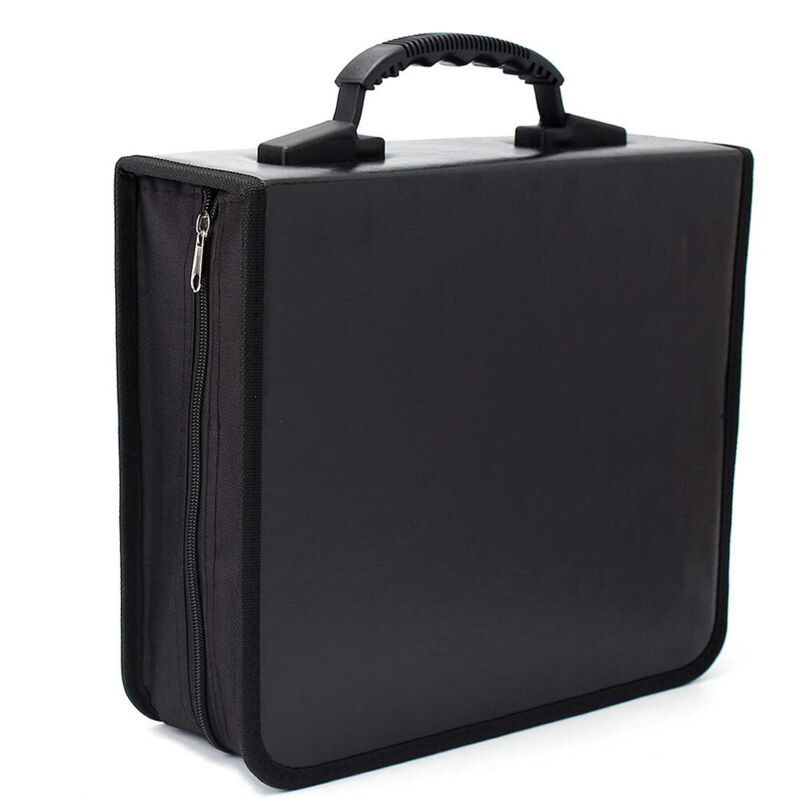 Portable 520 Disc CD DVD Storage Bag PU Leather Wallet Holder Case Box Organizer