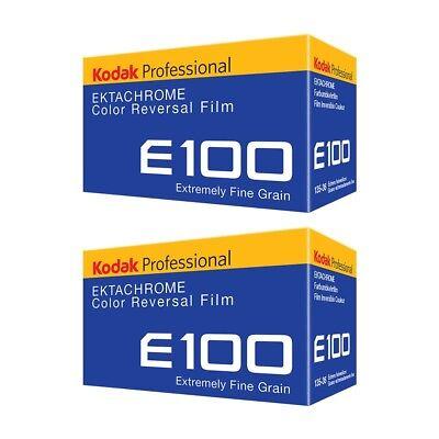 2x Kodak Professional Ektachrome E100 35mm 135-36 Colour Transparency Slide Film
