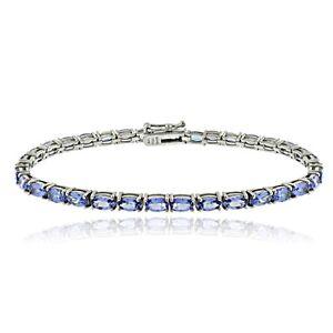 925 Silver 8.75 Ct Tanzanite Oval Tennis Bracelet