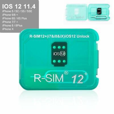 RSIM12+ New 2019 R-SIM 12+ Nano Unlock Card Fits iPhone X/8/7/6/6s/5 4G iOS 12.4