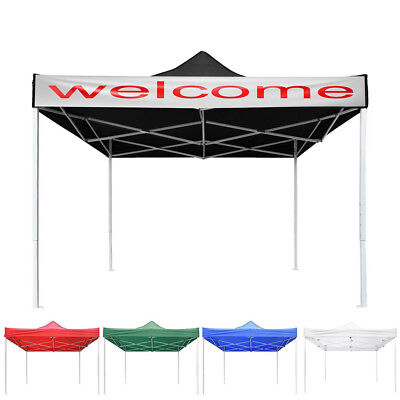 10x10' EZ Pop Up Canopy Tent Patio Outdoor Party Shade Shelter Can Attach Banner
