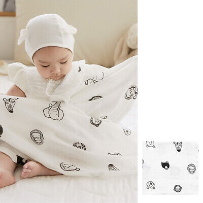 Dono and Dono Silky Smooth Bamboo Cuddle Blanket 41 x 41 Inch - Animal Friends