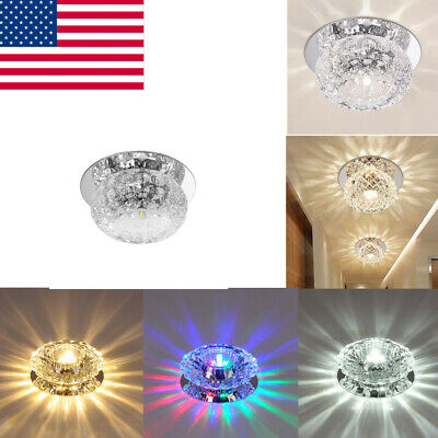 Home Wall Crystal 5W Pendant Lamp Lighting Chandelier LED Ceiling Light Fixture