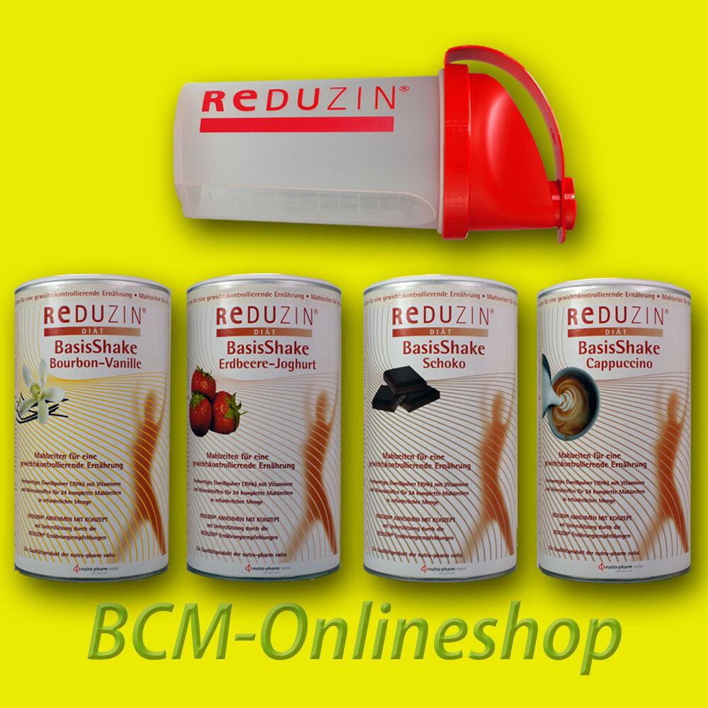 BCM Onlineshop - 4 Dosen REDUZIN BasisKost Diät Shake - 100 Portionen!  Abnehmen