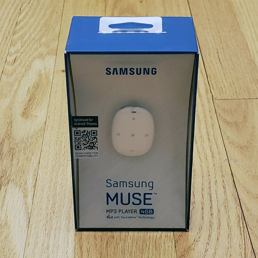 NEW Genuine Samsung Galaxy Muse 4GB MP3 Player Marble White