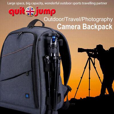 Travel Large Digital DSLR Camera Backpack Shoulder Bag Case For Canon Nikon BE