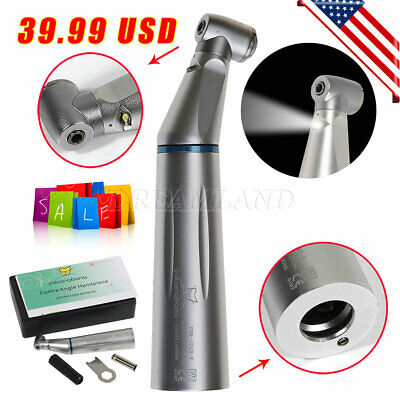 Dental Contra Angle Slow Speed Handpiece Fiber Optic Led Light E Type Fit Kavo