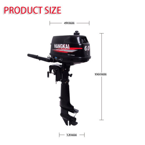 6hp 4 4kw Outboard Engine 2 Stroke Fishing Boat Engine