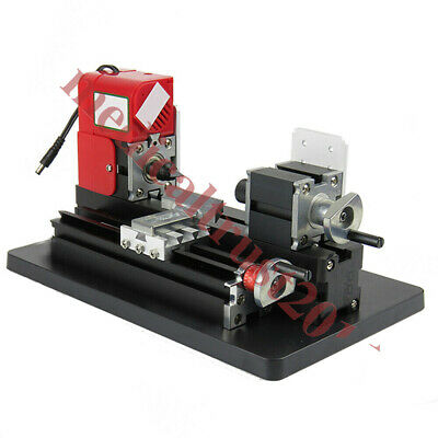 Diy Mini Wood Metal Motorized Lathe Machine Woodworking Hobby Craft Tool Kit