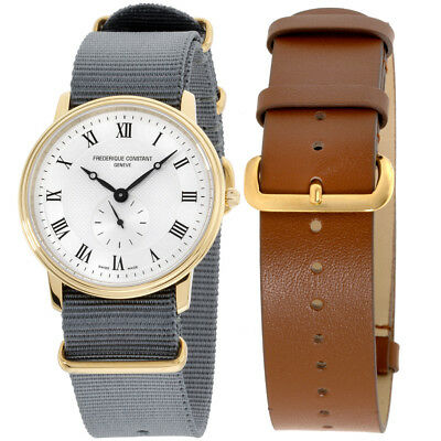 Frederique Constant Slimline Gold Mens Watch Fc235m4s5gry   Extra Strap