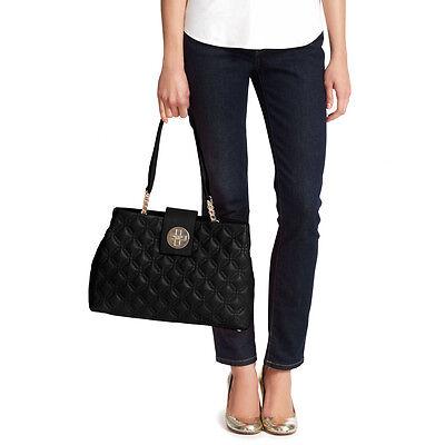 NWT Kate Spade Astor Court Elena Shoulder Bag Black Silver # WKRU3574