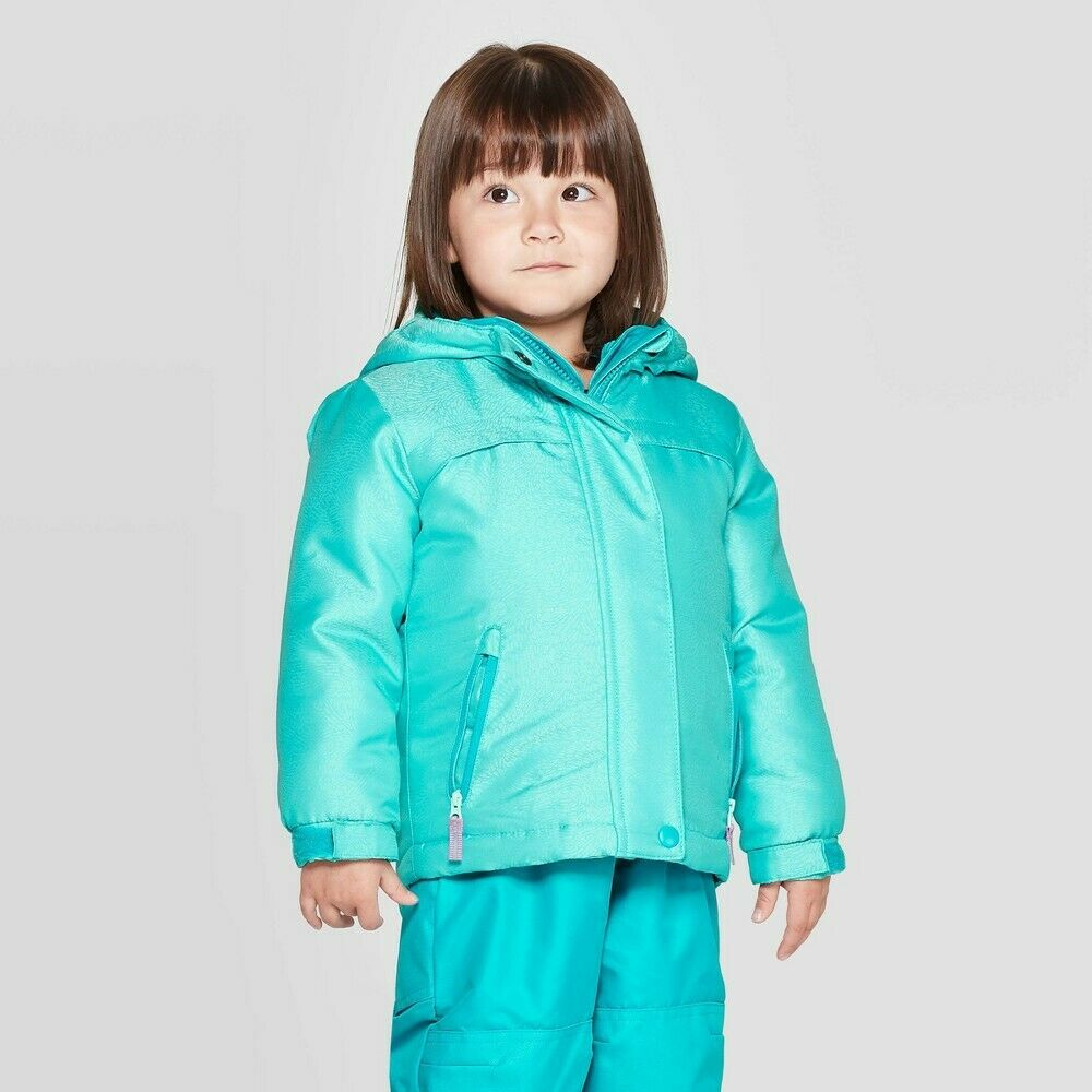 Toddler Girls' 3-in-1 Jacket – Cat & Jack Turquoise 3T Baby