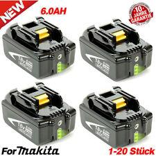 2X BL1850B 6AH 18V Akku für Makita BL1860 BL1840 BL1830 194204-5 LXT LED-Anzeige
