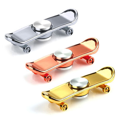 Finger Skateboard Hand Spinner Metal Finger Scooter Skate Toy  Classic Game Toys