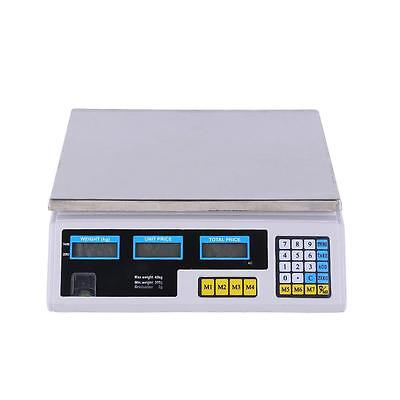Ohuhu 60LB Digital Weight Scale Price Computing Deli Food Fruit Electronic Count