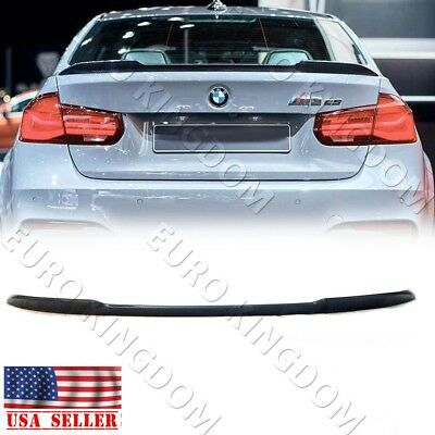 For BMW F30 3-Series / F80 M3 CS Style Carbon Fiber Rear Boot Trunk Spoiler Wing