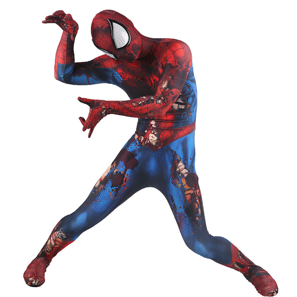 Zombie Spider-Man Jumpsuit Spiderman Cosplay Costume For ...