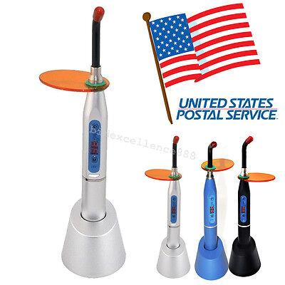 Usa Dentist Dental Wireless Led Curing Light Lamp 1500mw 10w Silver Black Blue