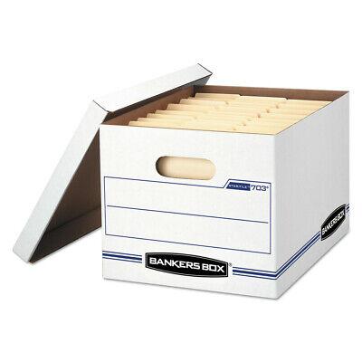 Bankers Box 0070308 Storfile Storage Box Whiteblue 4carton New