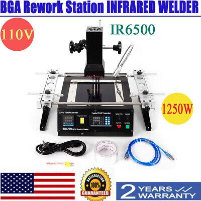 Ir6500 Ir Bga Rework Station Soldering System Infrared Reballing Welder Deus