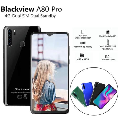 Blackview A80 Pro Mobile Phone 4GB+64GB 4680mAh 4G Smartphon