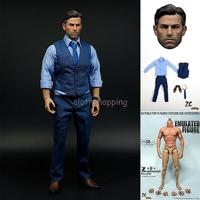Zctoys 1 6 Batman Ben Affleck Clothing Suit Set Muscular Figure Body Head Sculpt