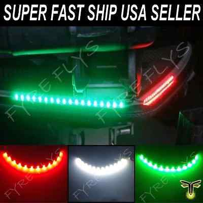 """LED Boat Bow Navigation Lighting RED,GREEN,WHITE 12"""" Submersible Marine Strips"""