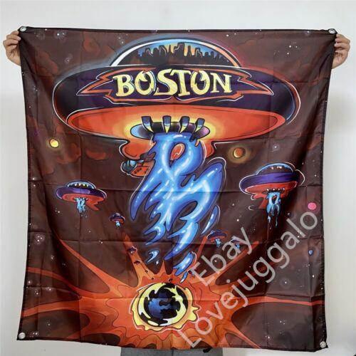 BOSTON Band Banner SELF-TITLED Album Cover Tapestry Flag Art Poster 4x4 ft