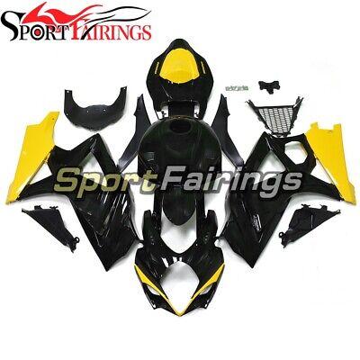 Black Yellow Bodywork for 2007 2008 GSXR1000 Suzuki Fairings K7 07 08 Panel Hull