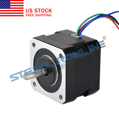 Nema 17 Stepper Motor 26ncm36.8oz.in 0.4a 12v 34mm Cnc Robot Reprap Makerbot