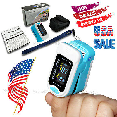 Oled Heart Pulse Rate Blood Oxygen Sensor Patient Monitor Spo2 Finger Oxi Meter