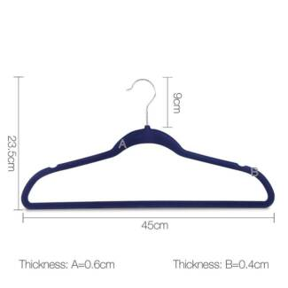 Set of 200 Slim Navy Velvet Hangers